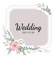 wedding card decor invitation to wedding vector image vector image