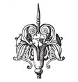 wrought-iron finial custom vintage engraving vector image vector image
