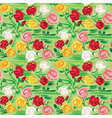 Hand painted roses seamless pattern vector image