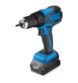 Realistic of cordless drill vector image