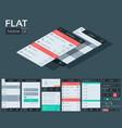 flat user interface mobile design concept vector image