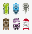 Set robots isolated on a white background vector image