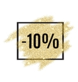 10 percent off discount promotion tag