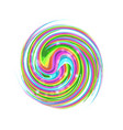 abstract colorful circle swirl vector image