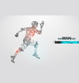 abstract silhouette a running athlete man vector image vector image