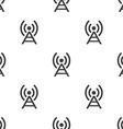 antenna seamless pattern vector image vector image
