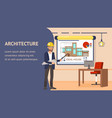 architecture design website banner template vector image vector image