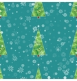 Background with Christmas tree and snowflakes vector image vector image