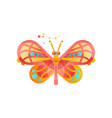 beautiful colorful butterfly insect vector image vector image