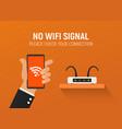 broken router no wifi connection vector image vector image