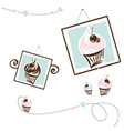 cake design collection for cafe and shop vector image