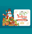 cartoon christmas invitation in childish style vector image