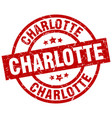 charlotte red round grunge stamp vector image vector image