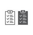 checklist line and glyph icon document and form vector image vector image