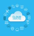 cloud computing round design template contour vector image vector image