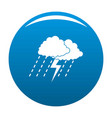 cloud thunder icon blue vector image vector image