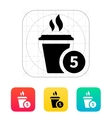 Coffe cup with number icon vector image vector image