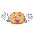 crazy mochi mascot cartoon style vector image vector image
