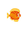 cute flounder fish hand drawn vector image