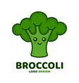 cute smiling happy broccoli vector image vector image