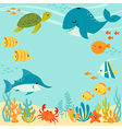 Cute underwater design vector image vector image