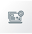 data management icon line symbol premium quality vector image vector image