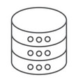 database thin line icon data and analytics vector image vector image