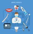 dental services concept vector image vector image