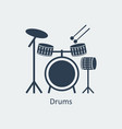 drums icon logo element vector image vector image
