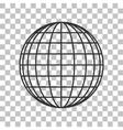 Earth Globe sign Dark gray icon on transparent vector image
