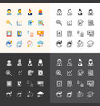 flat icons set business finance technology vector image