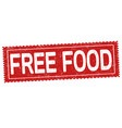 free food sign or stamp vector image vector image