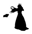 gueen evil witchcraft magical silhouette fantasy vector image