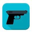 gun app icon with long shadow vector image