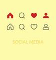 hand like dislike sign icon thumbs up thumbs down vector image vector image