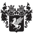 heraldic silhouette No32 vector image vector image