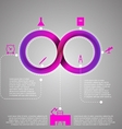 infographic for education with Mobius stripe vector image
