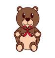 isolated teddy bear design vector image vector image