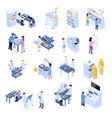 isometric scientific laboratory icon set vector image