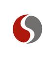 letter s yin yang vector image