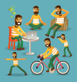 Lifestyle concept everyday life character set vector image vector image