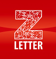 logo of the letter Z floral ornament vector image vector image