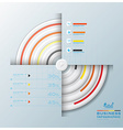 Modern Circle Business Infographic vector image vector image