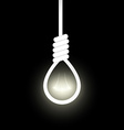 noose from the gallows with light inside vector image