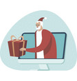 online shopping and fast delivery on christmas vector image vector image