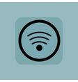 Pale blue Wi-Fi sign vector image vector image