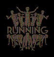people run runner marathon running vector image