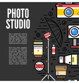 Photographer or photostudio concept design vector image