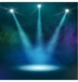 Premiere Blue Show background sparkles Smoky vector image vector image
