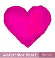 Purple Watercolor Heart vector image vector image